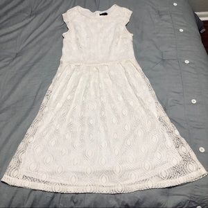 White and cream lace dress